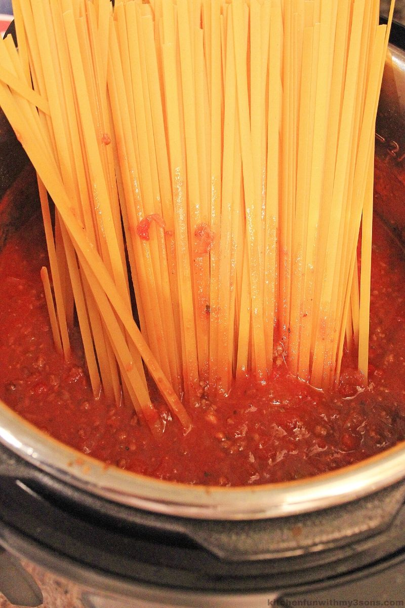 pastsa in the sauce