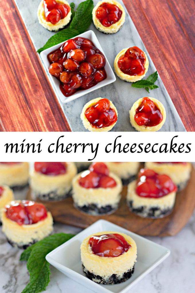 Mini Cherry Cheesecakes