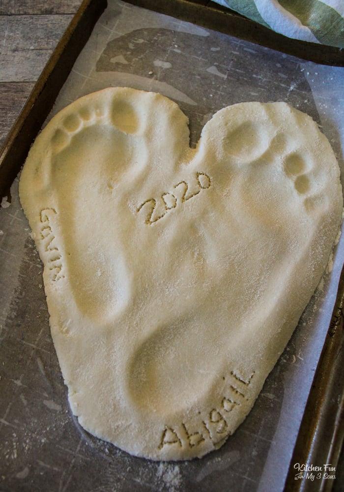 Salt Dough Handprints Keepsake Recipe