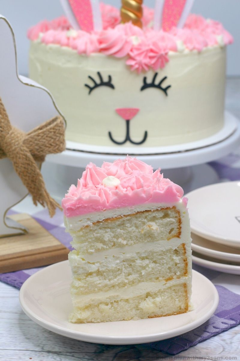 Unicorn Easter Bunny Cake Recipe