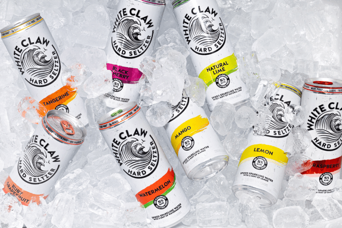 White Claw in Cooler