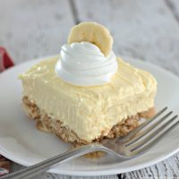 Banana Cream Cheesecake Squares