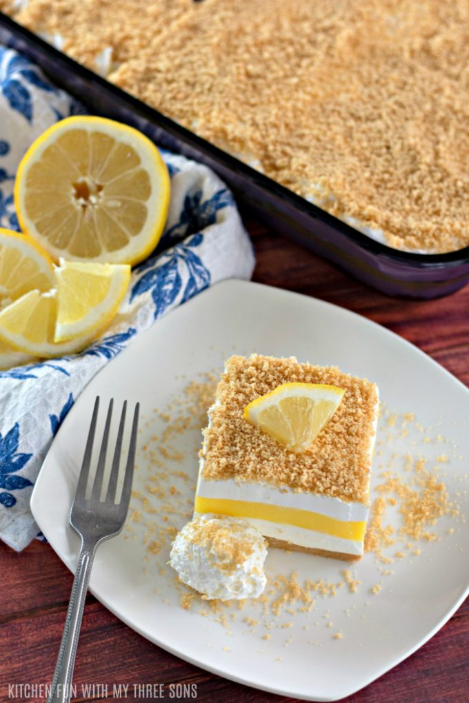 No Bake Lemon Lasagna