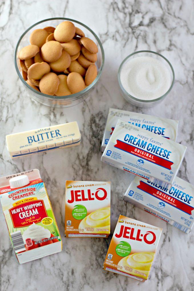 banana cheesecake squares ingredients
