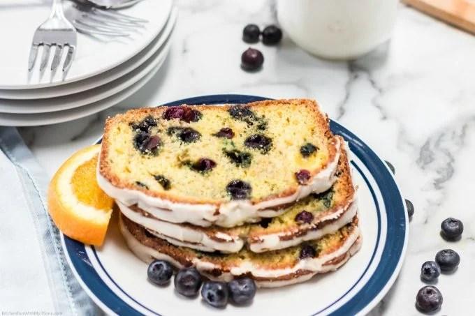 Blueberry Orange Bread Slices