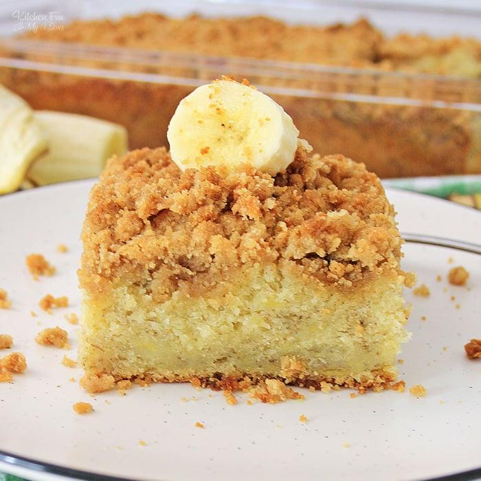 Banana Crunch Cake recipe
