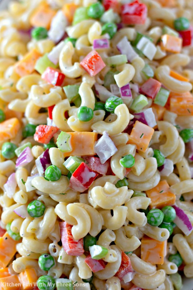 closeup of the Easy Macaroni Salad Recipe