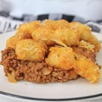 Barbecue Cheeseburger Tater Tot Casserole
