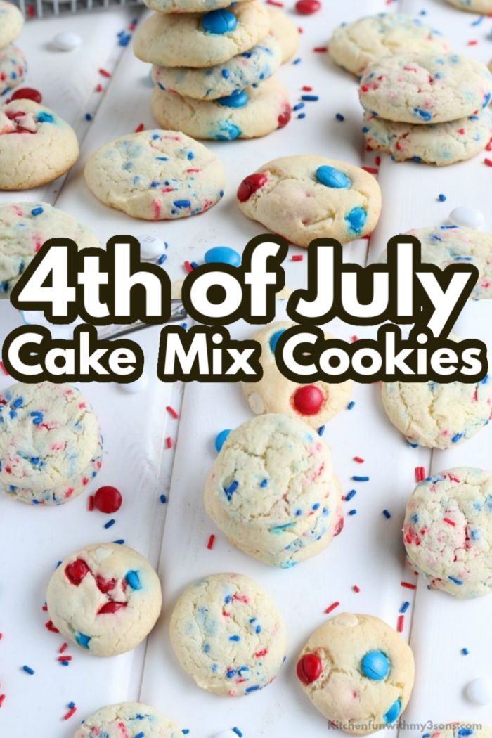 4th of July Cake Mix Cookies