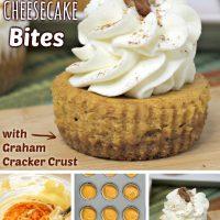 Mini Pumpkin Cheesecake Bites