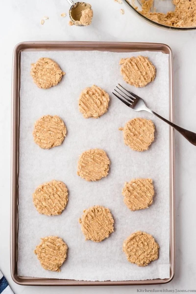 pressed cookie dough balls