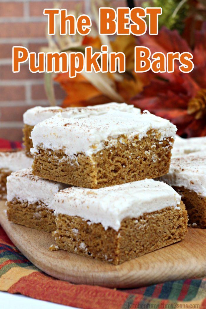 The Best Pumpkin Bars Recipe