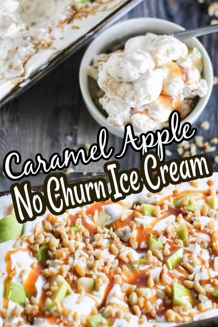 caramel apple no churn ice cream