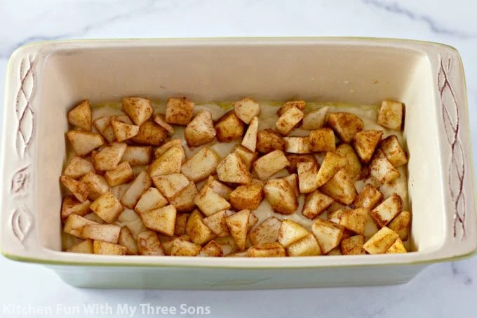 apples in the loaf pan
