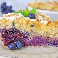 Blueberry Muffin Cheesecake Pie