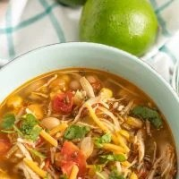 Instant Pot Chili Lime Chicken Soup