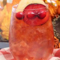 Plum Apple Hot Toddy Whiskey Cocktail