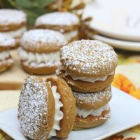 Pumpkin Gingerbread Whoopie Pies