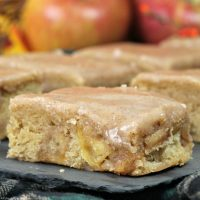 Apple Blondies with Maple Glaze