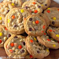 Loaded Reese's Pieces Cookies