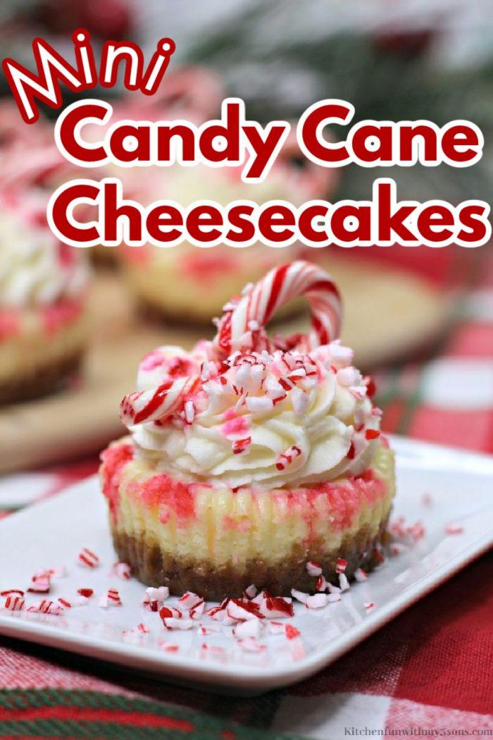 Mini Candy Cane Cheesecakes