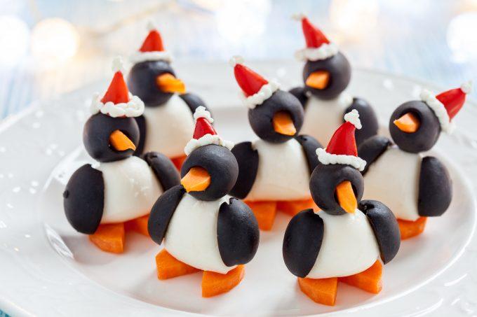 Egg and Olive Penguins Appetizer