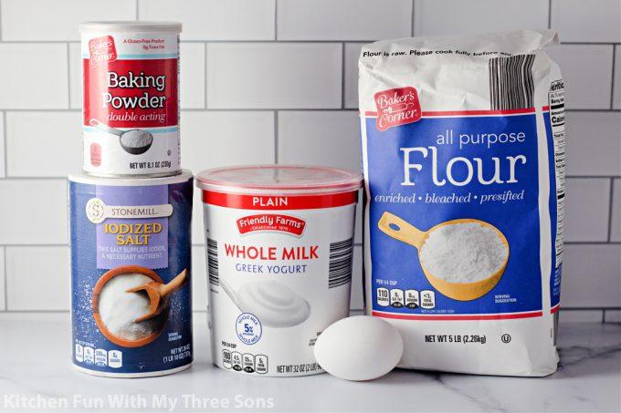 ingredients to make Easy Air Fryer Bagels
