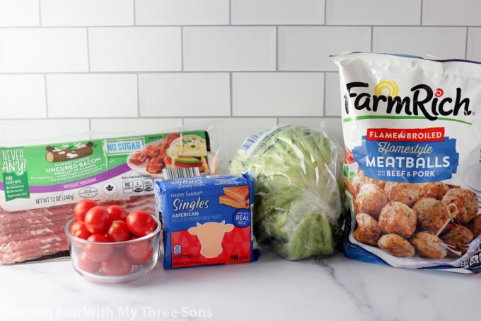 ingredients to make Bacon Cheeseburger Bites