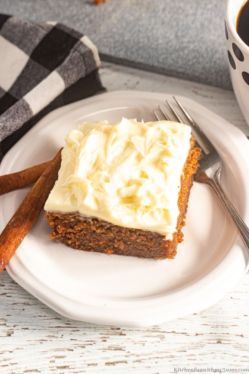 Frosted Carrot Sheet Cake