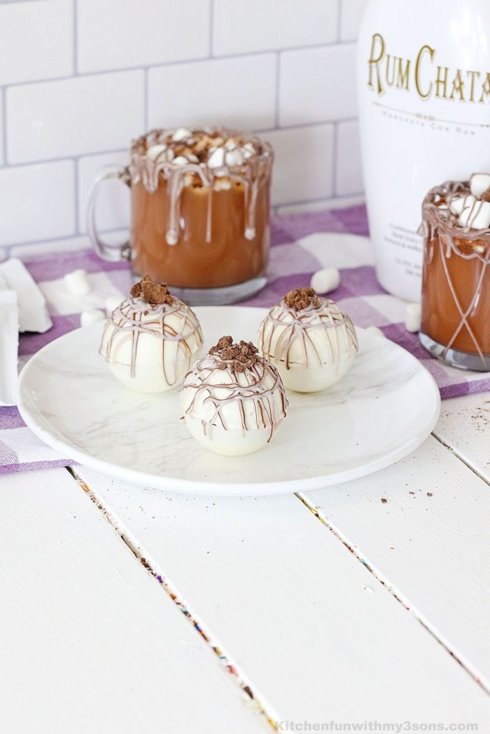 Rum Chata Hot Cocoa Bombs
