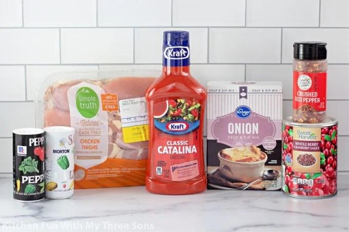 ingredients to make Cranberry Catalina Chicken.