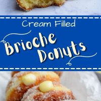 Brioche Cream Filled Donuts