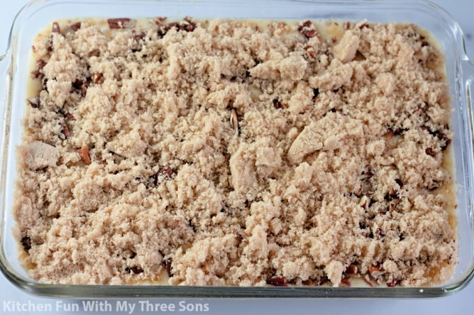 brown sugar over the pecans.