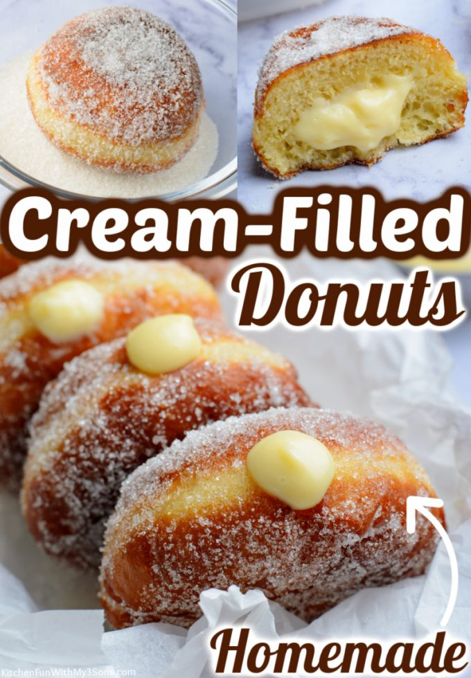 Cream Filled Donuts