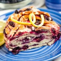 Lemon Blueberry Swirl Bread