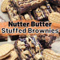 Nutter Butter Stuffed Brownies