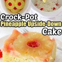 Crockpot Pineapple Upside-Down Cake