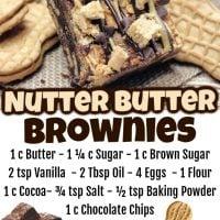 Nutter Butter Brownies