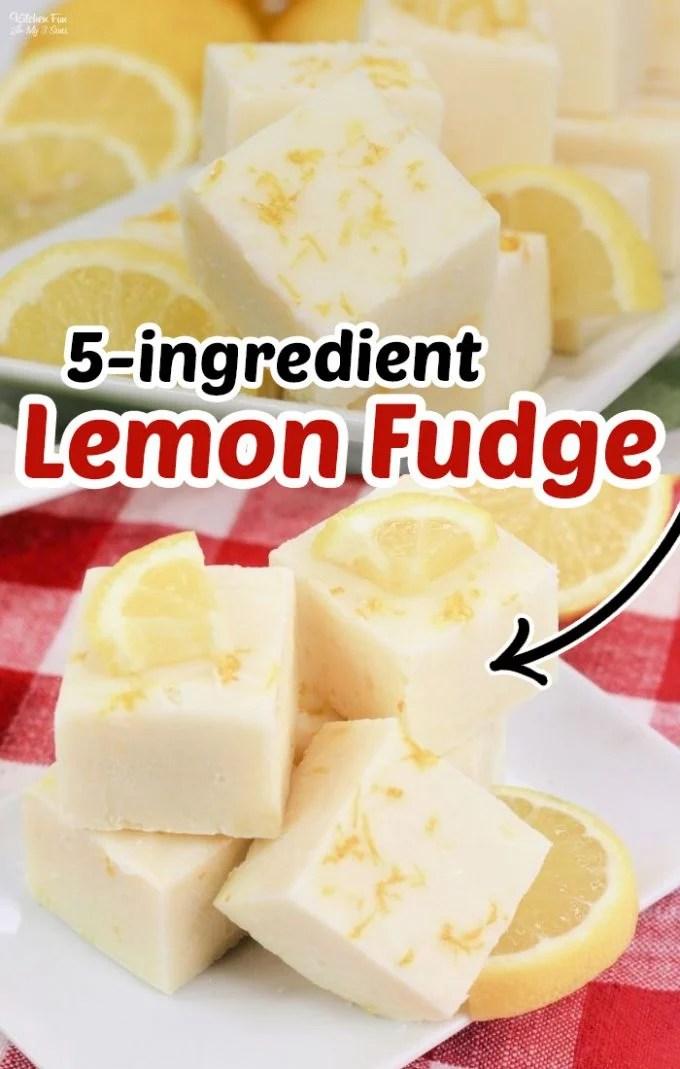 Limun Fudge izuzetno je jednostavan i sadrži samo pet sastojaka, uključujući pravi limun i koricu limuna.  Deserti s limunom #Recepti #Dessert