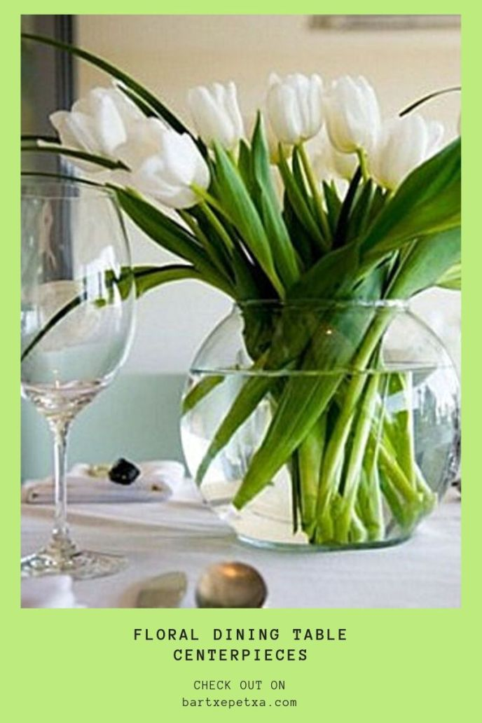 floral dining table centerpieces