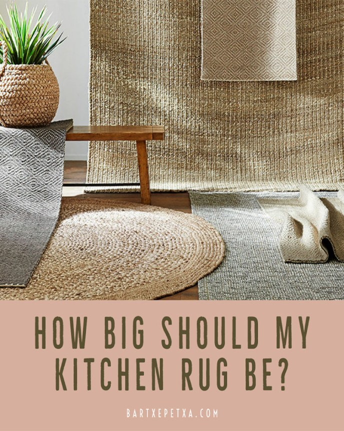 How big should my kitchen rug be?