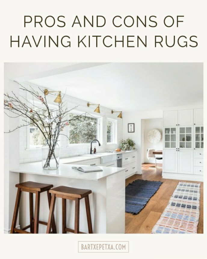 Pros and cons of having kitchen rugs