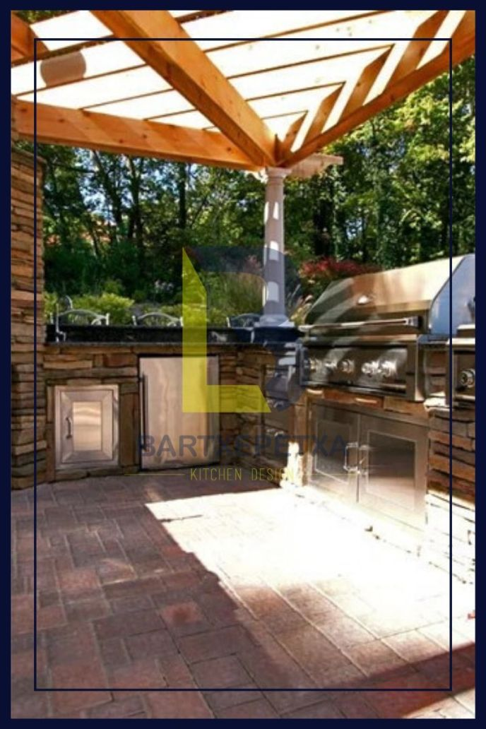 outdoor kitchen pergola ideas