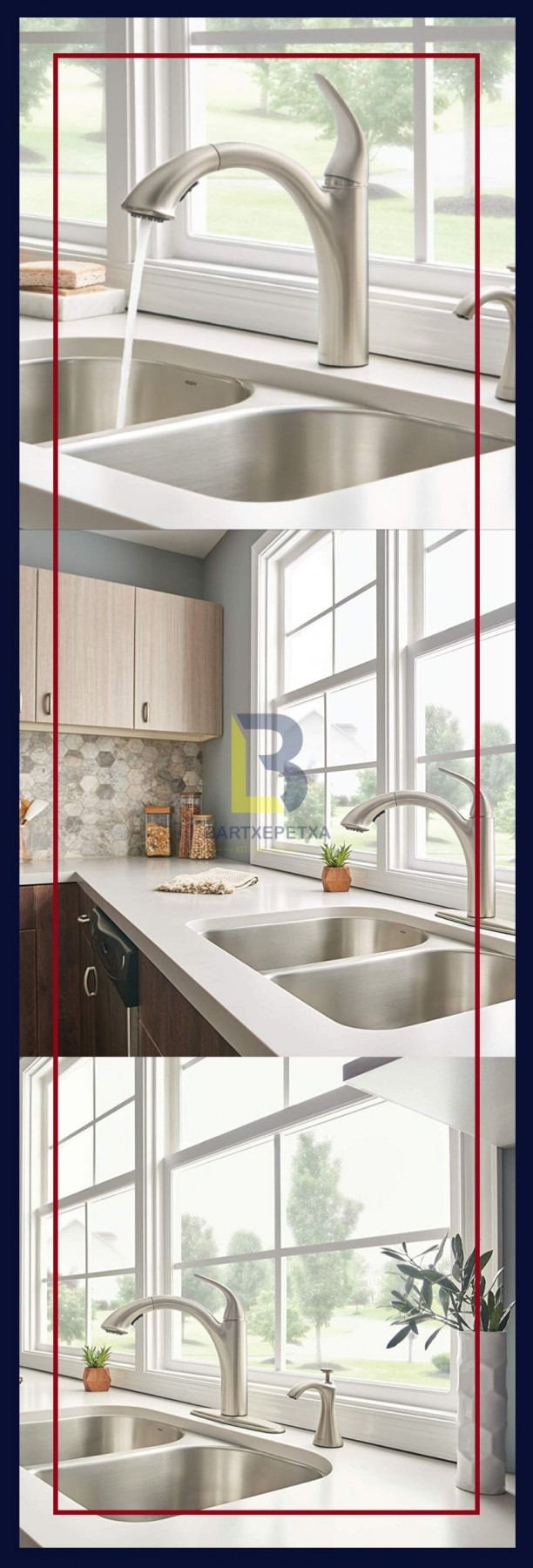 white soap dispenser for kitchen sink