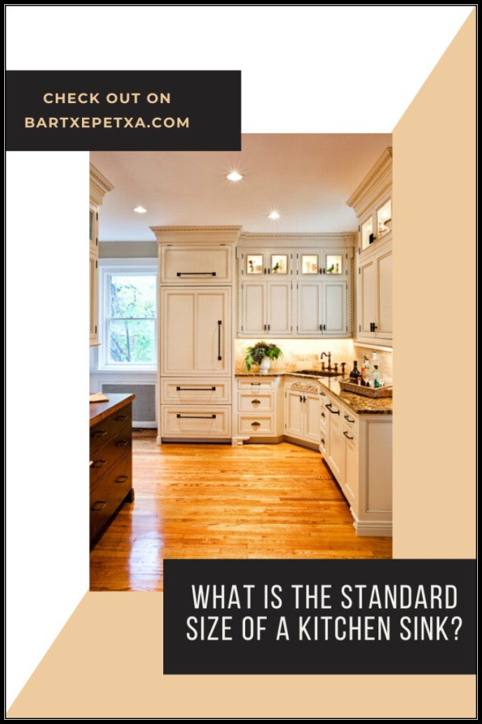 What is the standard size of a kitchen sink