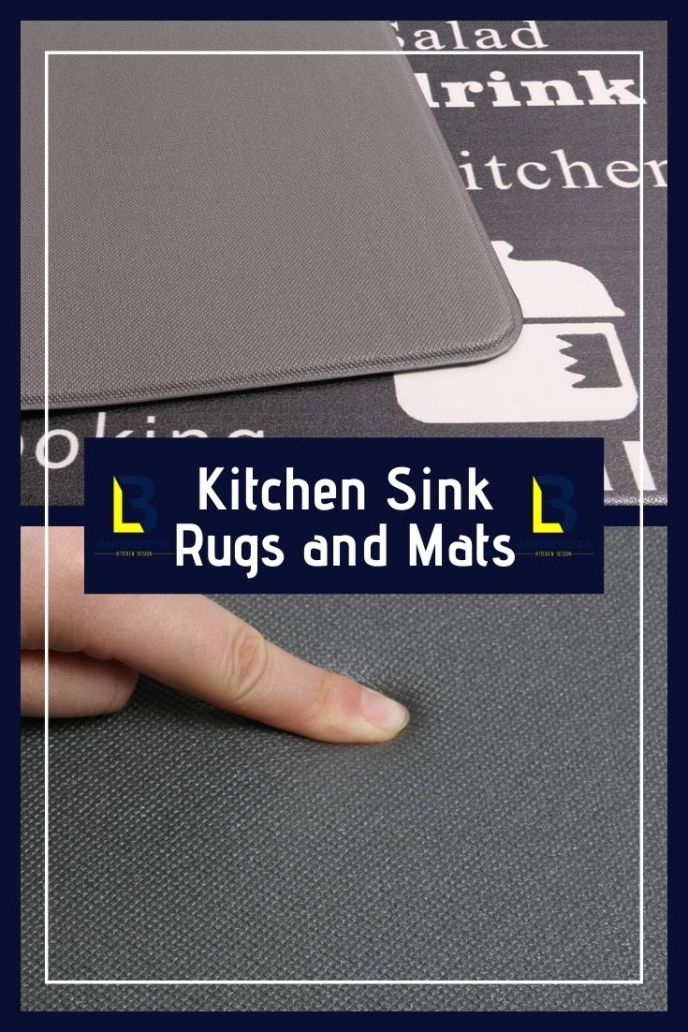 designer kitchen sink mats