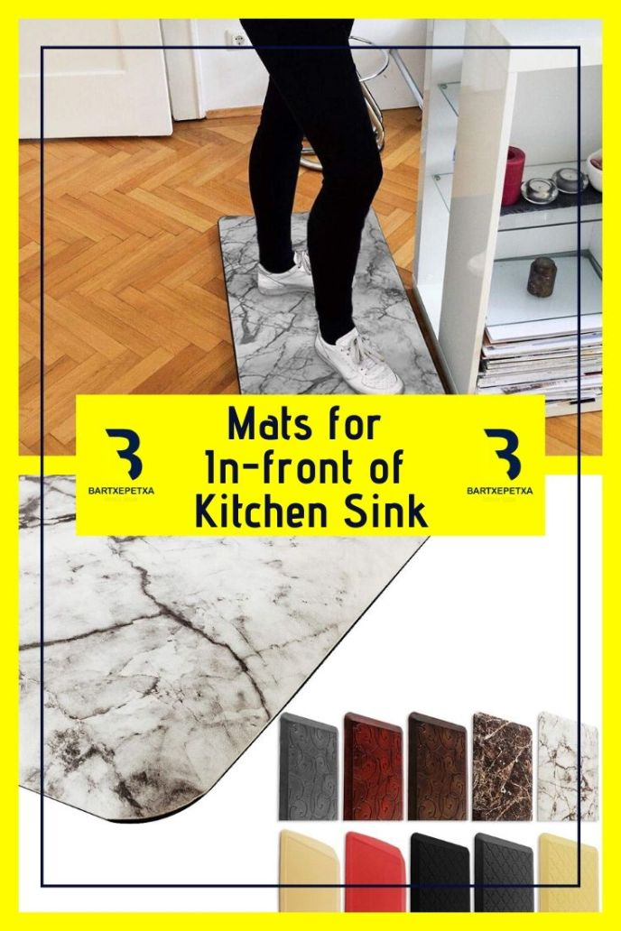 kitchen sink drying mats