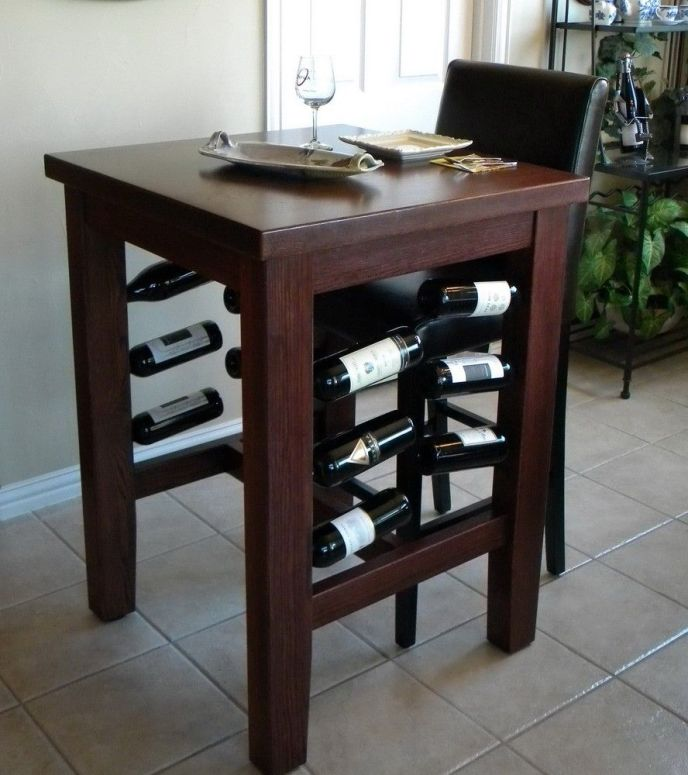 dining table with side storage