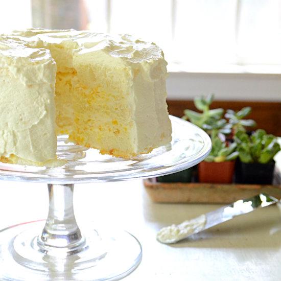 Pineapple Cream Angel Food Cake Kitchengetaway Com