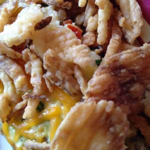 French Fried Onion Omelet